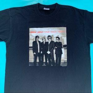 "Tops - Bon Jovi 2001 ""One Wild Night"" World Tour shirt"